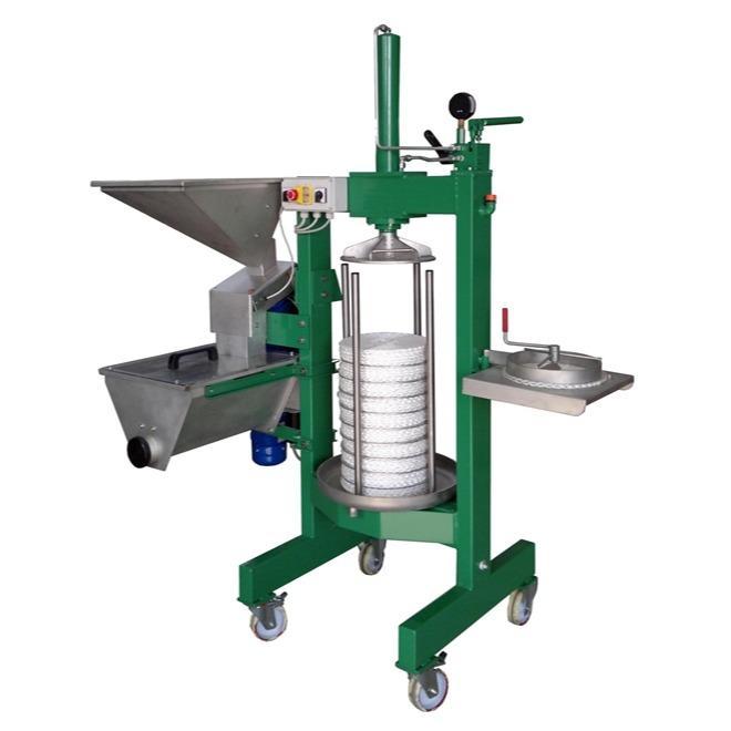 Presse avec broyeur pour extraction huile d'olive