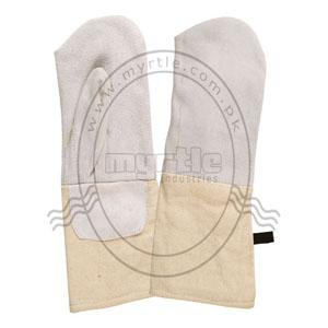 Material: Split leather with  fleece lining & canvas cuff  polyester tape with hanger   Size: 24 + 14 X 16 cm  Weight: 340 gram. / pair Performance: Heavy Duty