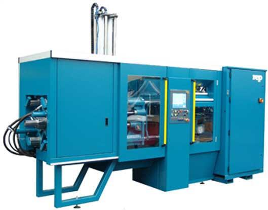 Horizontal injection molding presses are designed to allow easy removal of molded parts. 