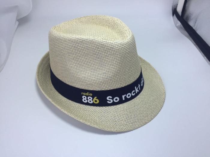 straw cowboy hat with printing logo