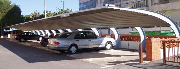 Cubiertas metálicas para parkings de acero galvanizado