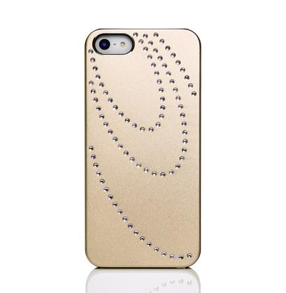 pearl diamond studded aluminum phone case cover for iphone 5 5S