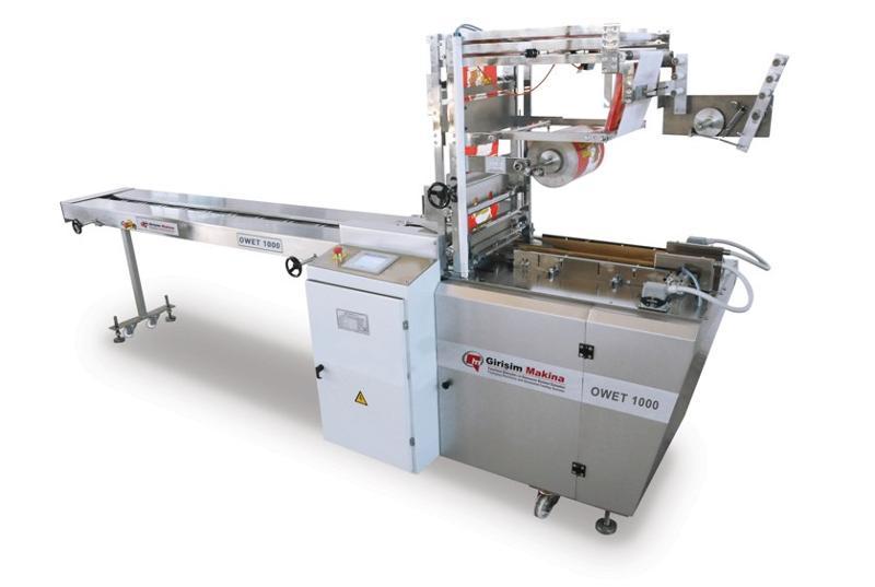 OWET 1000 SUR EMBALLAGE,  machine de conditionnement de type enveloppe est très souple et avantageux d'utiliser en raison de la possibilité de recevoir les paquets avec des  dimensions différente