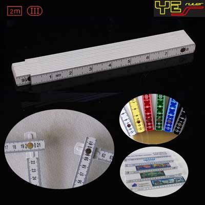 2m plastic folding ruler