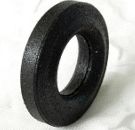 Casters made from recycled rubber for containers and trash cans