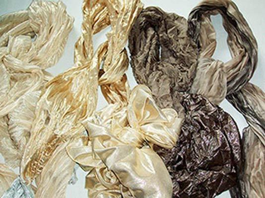 Articoli piatti/plissé con fibra metallizzata - 100% Made in Italy