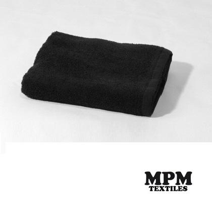 Terry Towel 100% Cotton,  Size:50x83 cm,380 gr/m2, Black color with anti-stain treatment  that give them more durable and resistant to the coloration products.