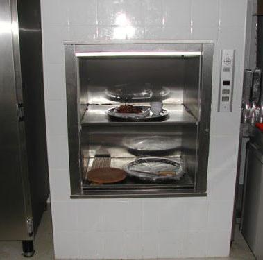 Dumbwaiter in restaurant