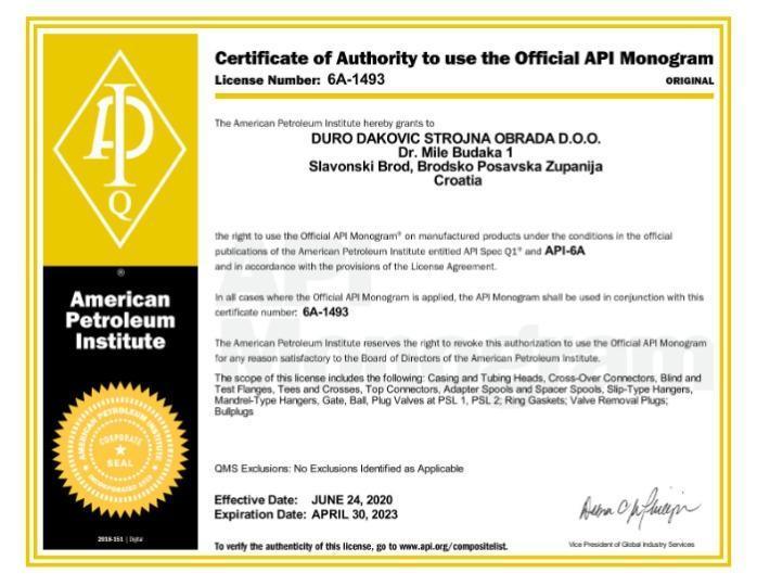 API6 Certificate