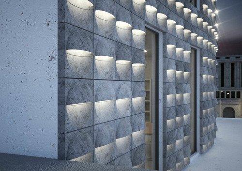 Betonbeschichtung für Fassadenbauteile