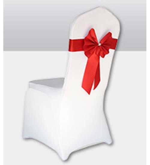 Grossiste décoration mariage paris housse de chaise en lycraspantex arc blanche