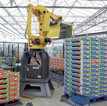 TECAUMA réalise des équipements de production pour les métiers de l'agroalimentaire (boulangerie/pâtisserie industrielle, boissons, ...),par exemple des robots de palettisation et machines d'emballage
