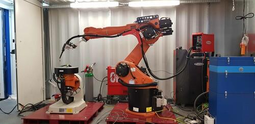Roboter zur Additives Lichtbogen schweiß