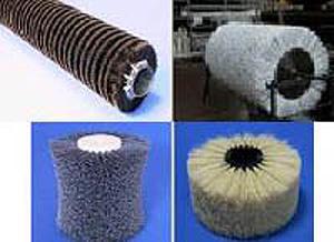 In foto selezione di spazzole industriali.