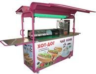 """Киоск предназначен для торговли """"фаст-фудом"""": мороженым, блинами, соками, роллами, суши, пиццей и т.д., а также продуктами питания."""
