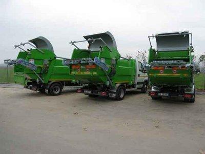 Abfallfahrzeuge mit DIGI SENS Waage