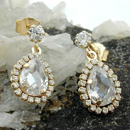 Article n°: 431321  Boucles d'oreilles 9k Or, longues   Zircones  Alliage: or 375/000, 9 carats   Prix pour: 1 paire  Taille: 16 x 8 mm  Poids: 1,3 g