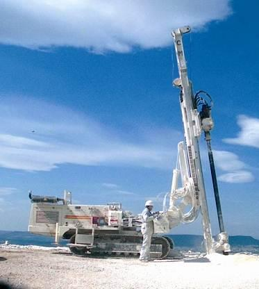 Typical drilling rig for micro piles and grouting