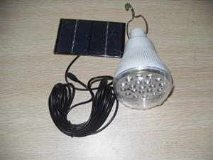 Solar charged LED Bulbs, power 3.7W with 2.5W solar panel