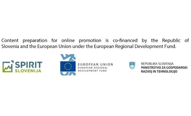 Content preparation for online promotion is co-financed by the Republic of Slove