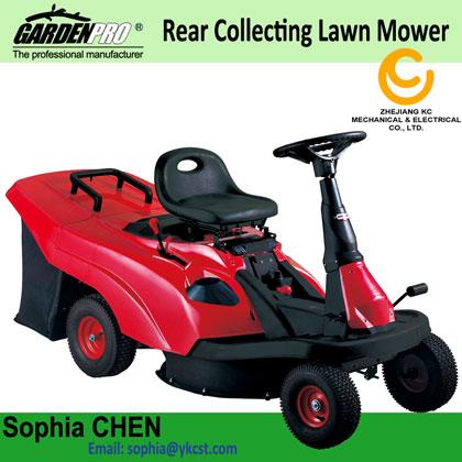 Riding Mower with Rear Collecting Bag