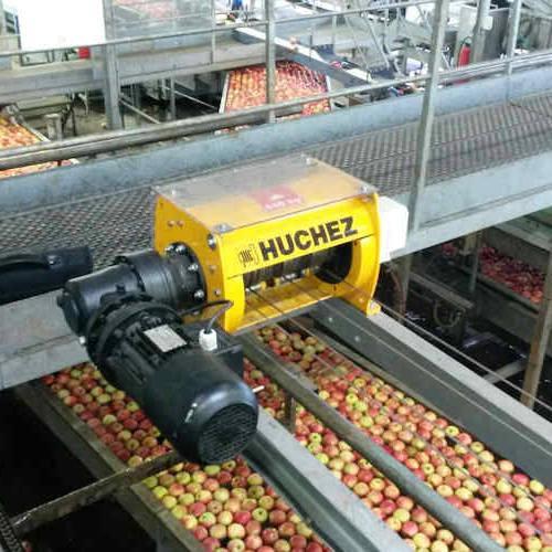 Treuil électrique INDUSTRIA utilisé dans le secteur de l'industrie agroalimentaire