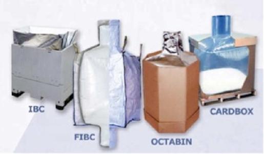 funda interior de cualquier envase destinada al transporte/almacenamiento de productos en forma de polvo, grano, granza y escamas. Contacte con nosotros para más información.