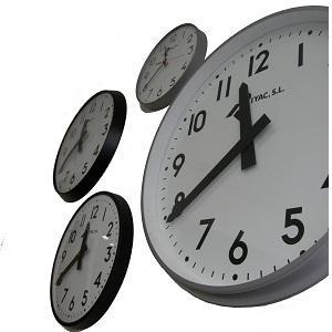 Relojes esfericos, digitales, relojes patrón.