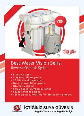 Vision serisi ev su aritma reverse osmosis su aritma cihazi