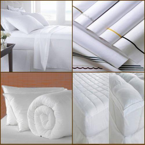 Manufacters and suppliers of mattress protectors, percale and satin bed sheets, duvets & covers, pillows, bedspreads and blankets