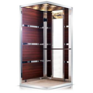 As a general feature, our ALHAMRA model elevator cabin is designed by horizontal radius laminate coating.