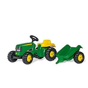 trattore a Pedali con ruspa e rimorchio