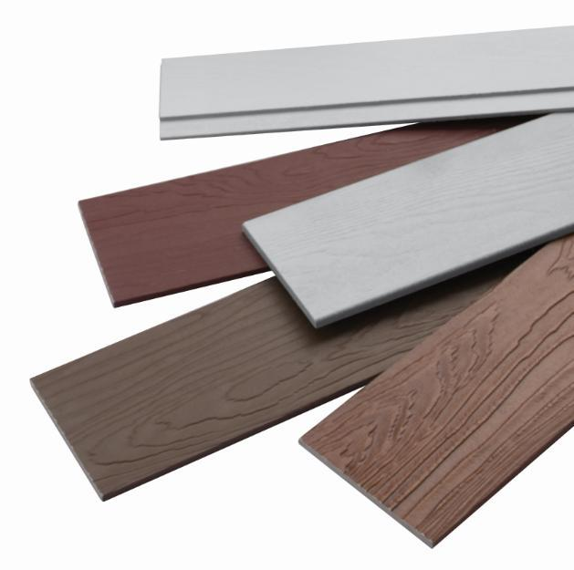 Fibre cement siding planks in a variety of colours