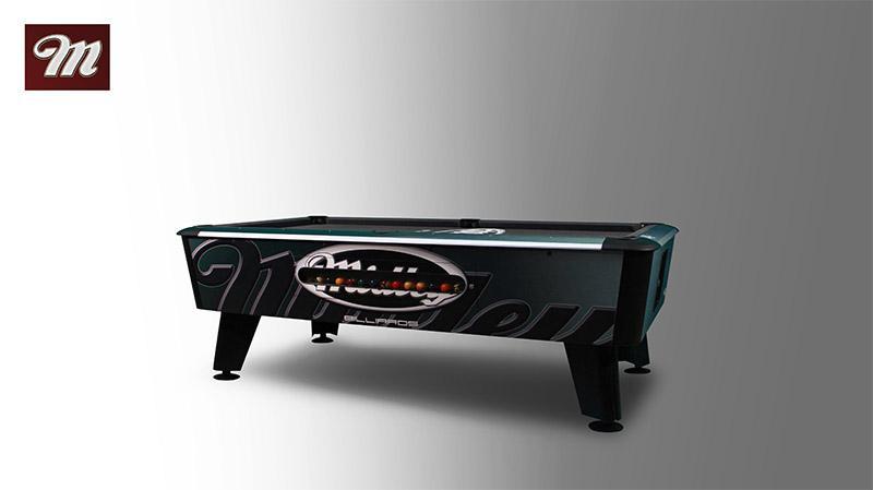 Fabricación de billar de alta precisión, el empleo de los mejores componentes y un ensamblaje preciso garantizan una gran jugabilidad y longevidad.