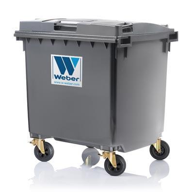 Dustbins & Waste bins 1100 litre flat lid from Weber