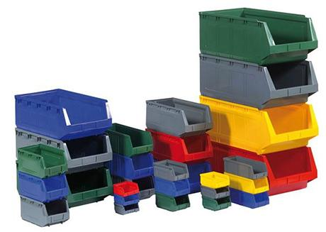 Stackable plastic small parts bins