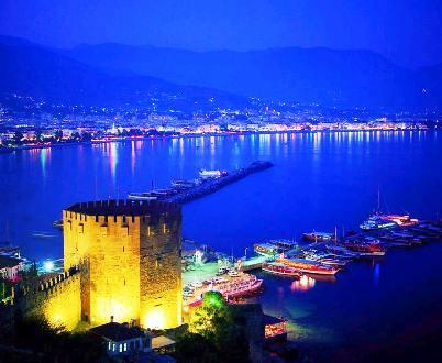 Alanya Nigth picture from red towers