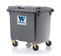 Dustbins, Wheelie bin, mobile waste tbins, 1100 litre flat lid