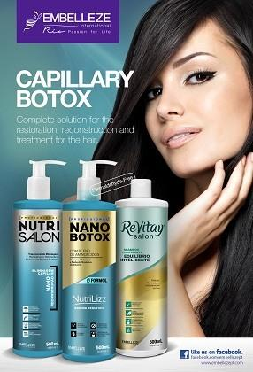 Capillary Botox is completely free of formaldehyde, containing a unique blend of amino acids and providing a progressive action of straightening the fiber according to the texture.