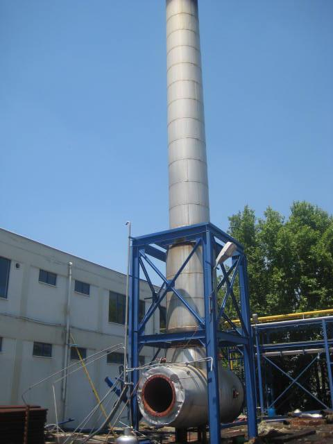 We have delivered secondhand Gas turbine Solar by-pass stack to Nigeria