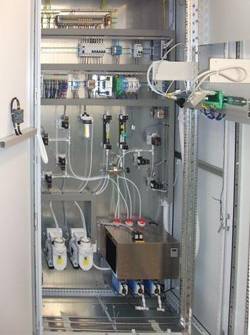 Gas analysis cabinet analysis