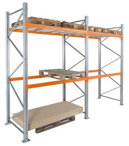 Rack classique. La solution la plus polyvalente et économique. Tous les emplacements sont d'un accès direct et immédiat. En variante : racks à double profondeur ou double face.