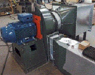 Ventilador centrifugo con sistema de insonorización y aislamiento de vibraciones