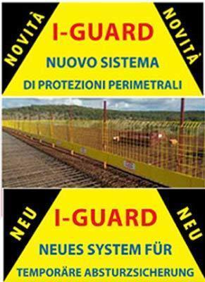 INTERFAMA I-GUARD sistema di protezione perimetrale - Temporäre Absturzsicherung