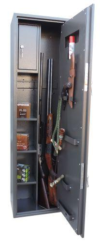 Gun safe Е137К2 with two locks is designed for storing rifled and smoothbore guns, ammunitions and other valuables