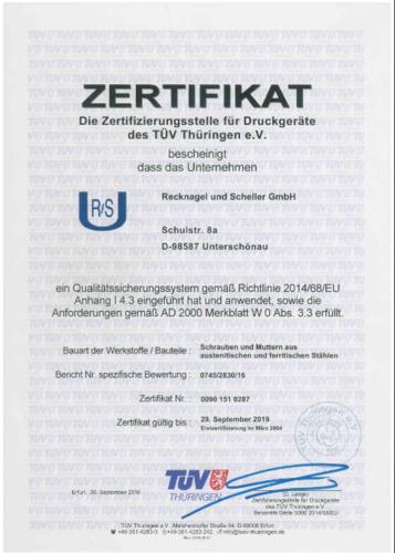 Zertifikat AD 2000