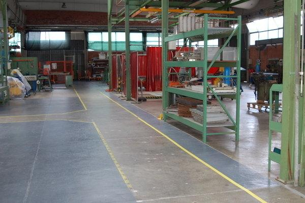 Assembling and welding area