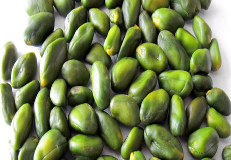 The immature kernels contain a large amount of chlorophyll pigments– which yield the intense green color. It is mainly used in chocolate, pastry, ice cream and sausage industries.