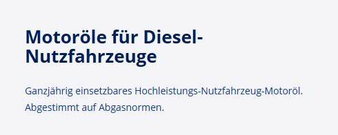 Motorenöle für LkW