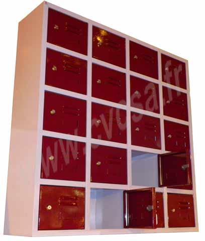 Armoire consigne accueil spéciale petits objets - L1000 x P250 x Ht1000mm.